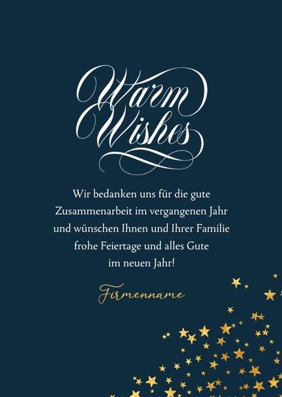 Weihnachtskarte Firma Foto Sternform & 'Warm wishes' 3