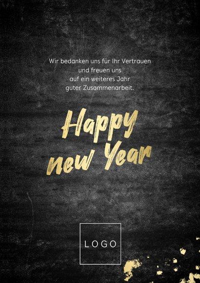 Weihnachtskarte Firma Fotocollage und Text in Goldlook 3