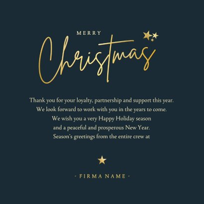 Weihnachtskarte Firma 'Merry Christmas' Art deco 3