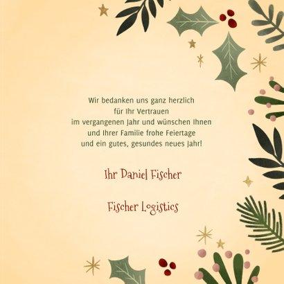 Weihnachtskarte Firma Merry Christmas klassisch 3