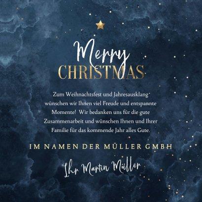 Weihnachtskarte Firma Nachthimmel 3