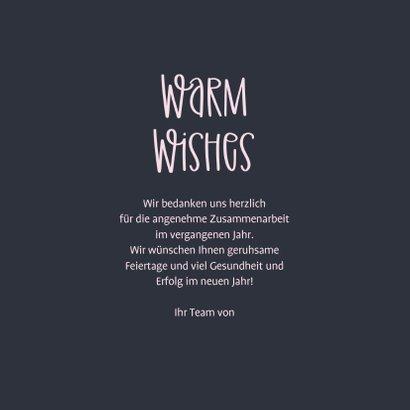 Weihnachtskarte Firma 'Warm Wishes'  3