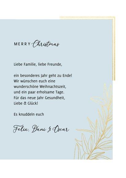 Weihnachtskarte Foto Goldrahmen klassisch 3
