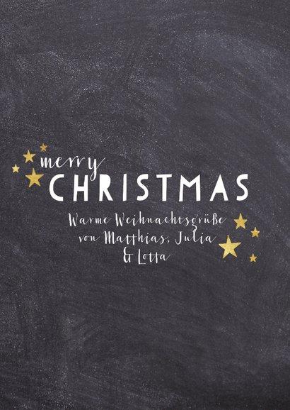 Weihnachtskarte Foto mit Sternchen 3