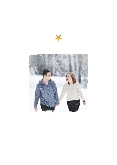 Weihnachtskarte Foto und Sternchen 2