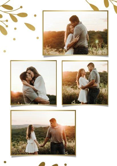 Weihnachtskarte Fotocollage mit goldenen Zweigen 2