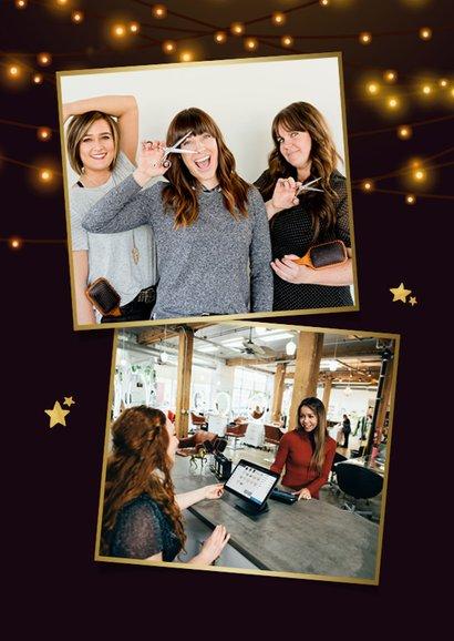 Weihnachtskarte Fotocollage Weihnachtsbaum 2
