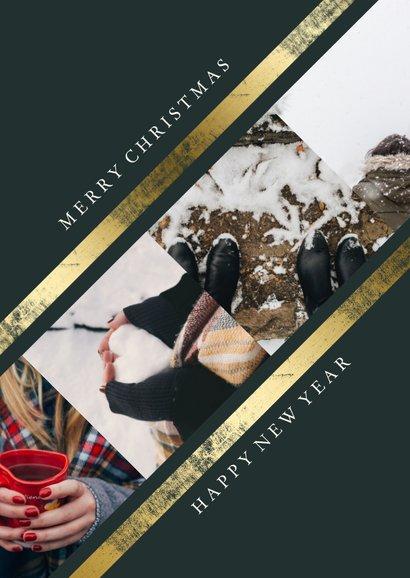 Weihnachtskarte Fotos mit Goldstreifen 2