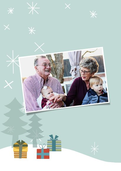 Weihnachtskarte Fröhlicher Schneemann 2