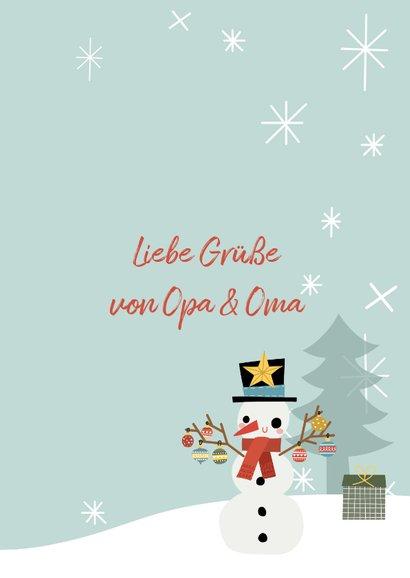 Weihnachtskarte Fröhlicher Schneemann 3