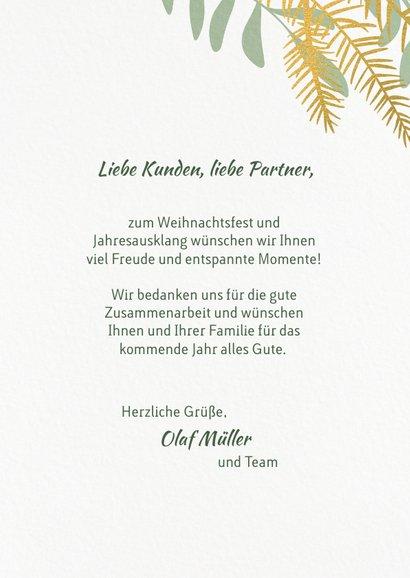 Weihnachtskarte 'Frohes Fest' botanisch 3