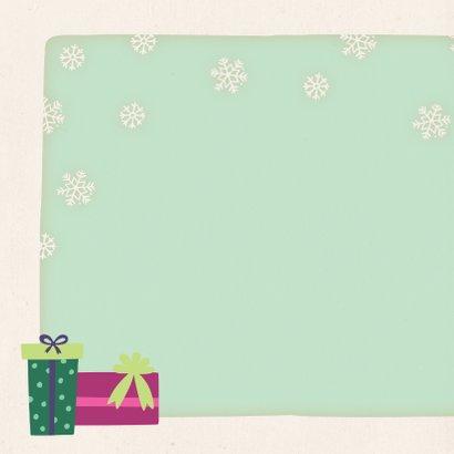 Weihnachtskarte Fuchs mit Wintermütze 2