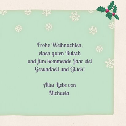 Weihnachtskarte Fuchs mit Wintermütze 3