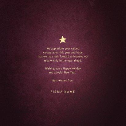 Weihnachtskarte geschäftlich 'Best Wishes' 3