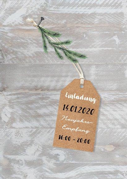 Weihnachtskarte geschäftlich Fotocollage auf Holz 2
