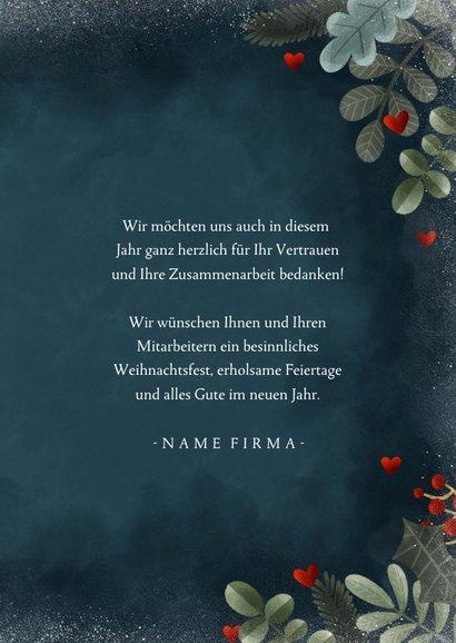 Weihnachtskarte geschäftlich Frohe Feiertage 3