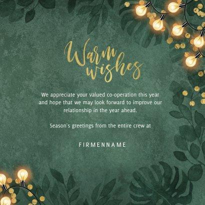Weihnachtskarte Geschäftskunden 'Warm wishes' 3