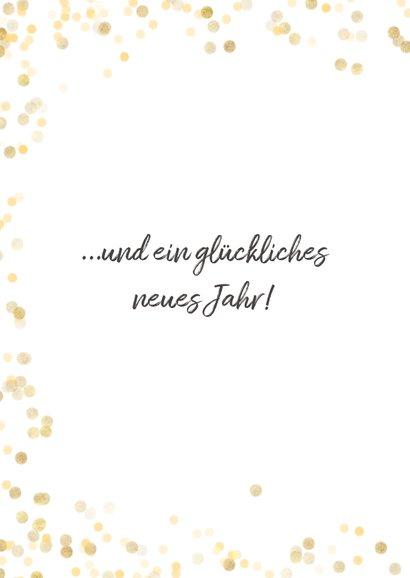 Weihnachtskarte Goldkonfetti mit Foto 2