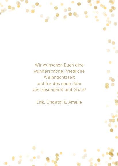 Weihnachtskarte Goldkonfetti mit Foto 3