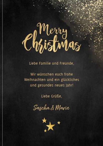 Weihnachtskarte Goldlook mit Foto 3