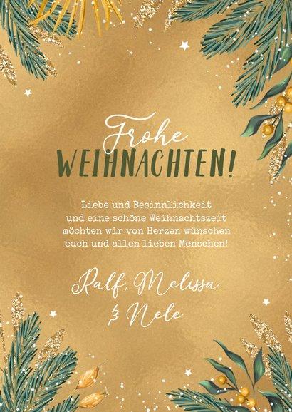 Weihnachtskarte Goldlook & Foto 3