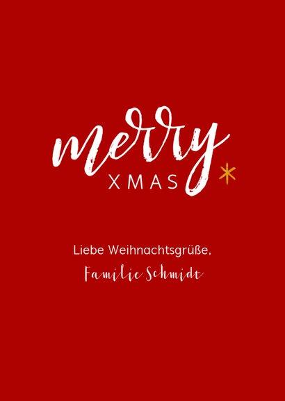 Weihnachtskarte großes Foto und merry XMAS 3