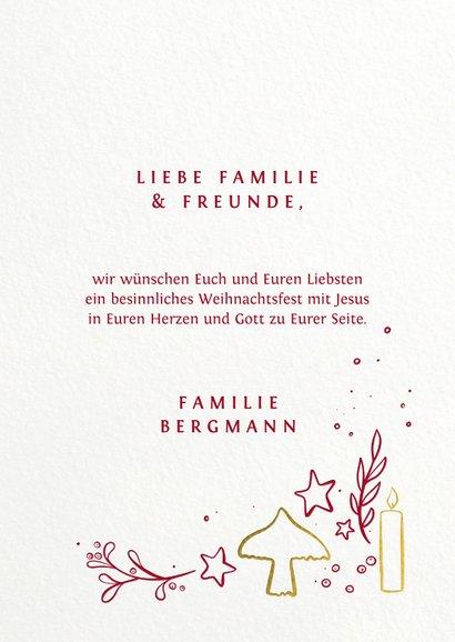 Weihnachtskarte Illustration 'Glaube Liebe Hoffnung' 3