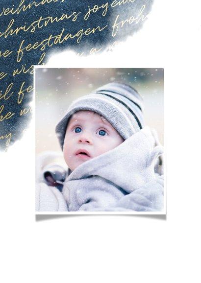 Weihnachtskarte international mit Wasserfarbe und Foto 2