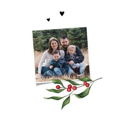 Weihnachtskarte klassisch Rotkehlchen & Winterzweige 2