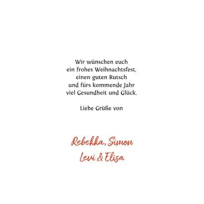 Weihnachtskarte klassisch Rotkehlchen & Winterzweige 3