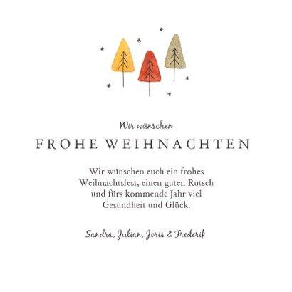 Weihnachtskarte kleiner Weihnachtswald 3