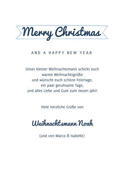Weihnachtskarte lustiger Weihnachtsmann eigenes Foto 3