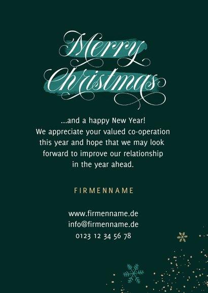 Weihnachtskarte Merry Christmas Weihnachtsbaum 3