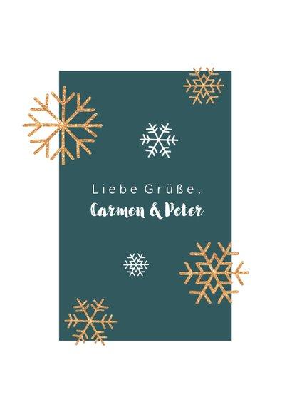 Weihnachtskarte minimalistisch mit Foto und Schneeflocken 3