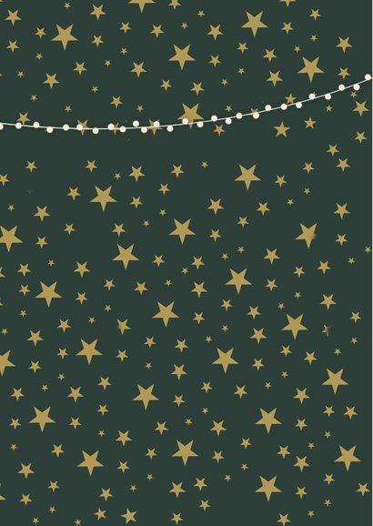 Weihnachtskarte mit 2 Fotos und Sternen 2