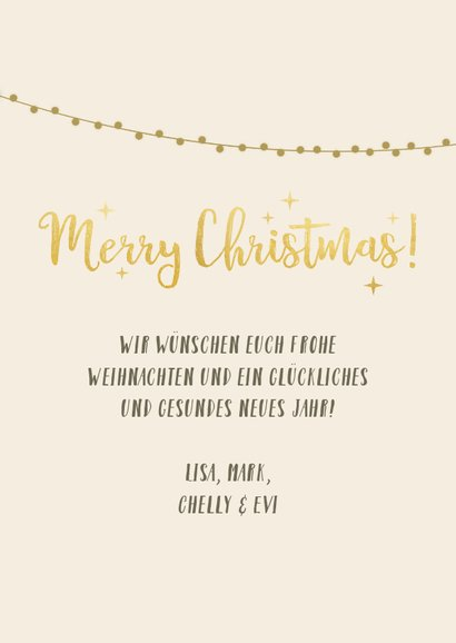 Weihnachtskarte mit 2 Fotos und Sternen 3