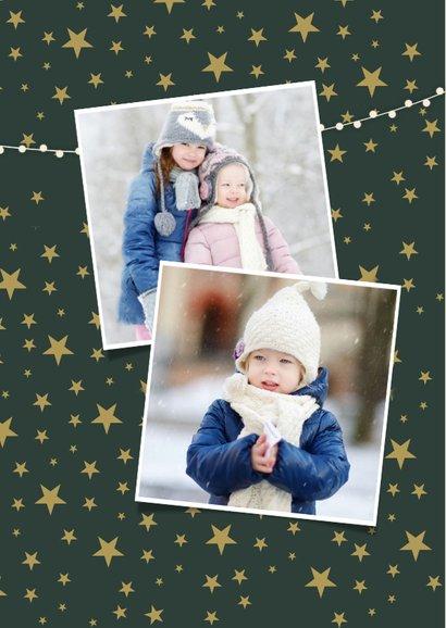 Weihnachtskarte mit 4 Fotos & Frohe Weihnachten in Goldlook 2