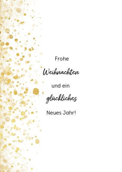 Weihnachtskarte mit eigenem Foto, Goldkonfetti und Sternen 2
