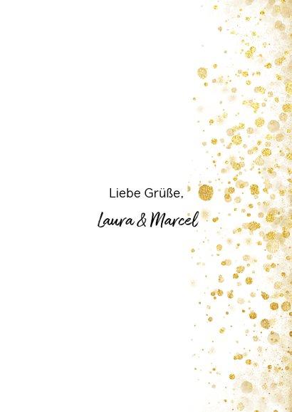 Weihnachtskarte mit eigenem Foto, Goldkonfetti und Sternen 3