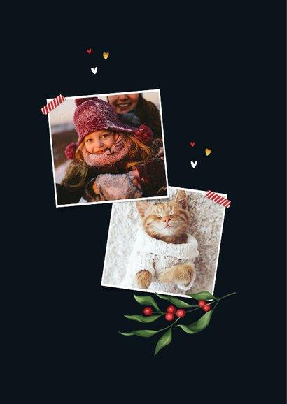 Weihnachtskarte mit Foto in botanischem Rahmen 2