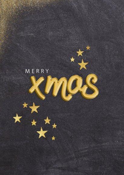 Weihnachtskarte mit Foto in Herz und Goldakzenten 2