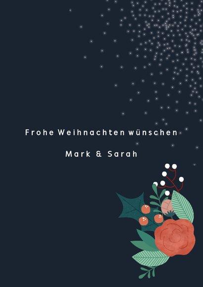 Weihnachtskarte mit Foto und Blumen 3