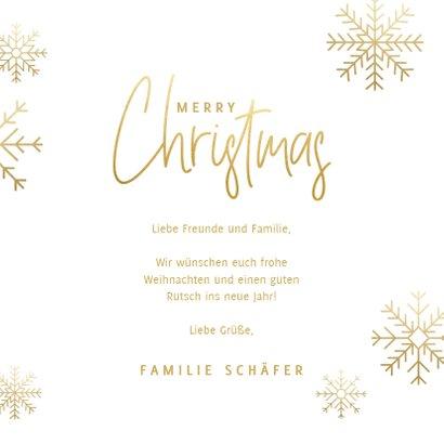 Weihnachtskarte mit Foto und eleganten Schneeflocken 3