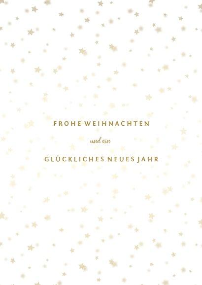 Weihnachtskarte mit Foto und goldenen Sternen  3