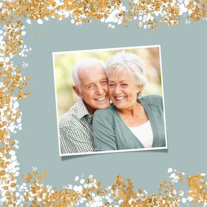 Weihnachtskarte mit Foto und Konfetti Rahmen 2