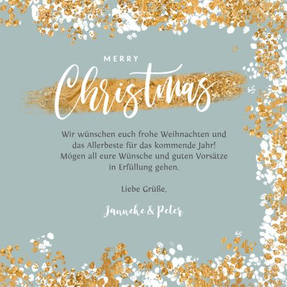 Weihnachtskarte mit Foto und Konfetti Rahmen 3