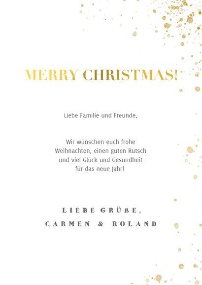 Weihnachtskarte mit Foto und Leoparden Muster 3