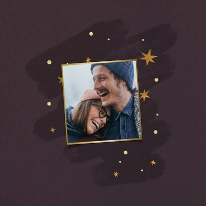 Weihnachtskarte mit Foto und Sternen 2