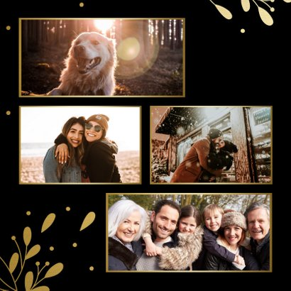 Weihnachtskarte mit Fotocollage in Goldrahmen 2