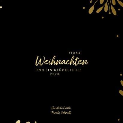 Weihnachtskarte mit Fotocollage in Goldrahmen 3